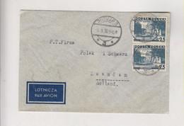 POLAND 1936 POZNAN Airmail  Cover To Netherlands - Brieven En Documenten