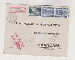 POLAND 1937 WARSZAWA Airmail  Cover To Netherlands - Brieven En Documenten