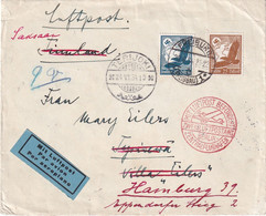 ALLEMAGNE 1934 PLI AERIEN DE FREIBURG - Lettres & Documents