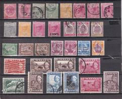 MALAYA SELANGOR 1885/1957 LOT USED/ UNUSED LMH - Selangor
