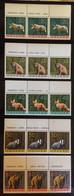 POLAND 1965 FOREST ANIMALS SPECTACULAR TOP MARGIN WITH NAMES NHM Wolf Lynx Fox Badger Bear Boar Deer Bison Moose - Ongebruikt