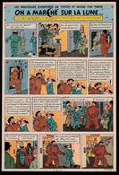 """Bandeau Titre De Tintin """"On A Marché Sur La Lune"""" Datant De 1950 Et Inédit Dans Les Bandes Dessinées En Albums. - Tintin"""