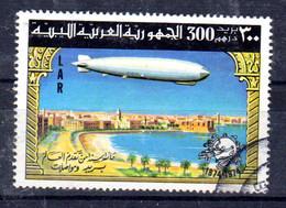 Libye; 17.5.1977; 100e Anniversaire L'UPU; Zeppelin Sur Tripolis; EX BF 22; Oblitéré , Lot 51841 - Libia