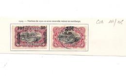 Congo Belge MOLS 1923 COB 104/105 - 1894-1923 Mols: Gebraucht