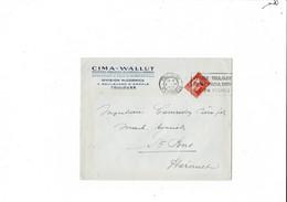 Enveloppe  CIMA  WALLUT  TOULOUSE 1935 - 1921-1960: Modern Period
