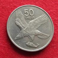 Botswana 50 Thebe 1980 KM# 7 *V1 Bird  Botsuana - Botswana
