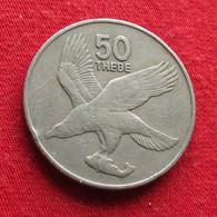 Botswana 50 Thebe 1984 KM# 7 *V1 Bird  Botsuana - Botswana