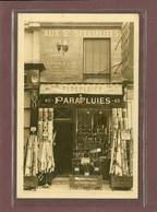 PARIS 20ème - F. JOLY - 43 RUE D'AVRON - PARAPLUIES, TOILES CIREES ET LINOLEUM - CARTE TRES RARE - Arrondissement: 20