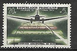 FRANCE    -   1959 .  Y&T N° 1196 Oblitéré.  Service Aéropostal De Nuit  /  Avion - Usati