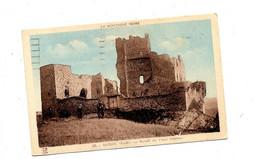 Carte Saissac Ruine Chateau Flamme Carcassonne Croix Rouge - Sonstige Gemeinden