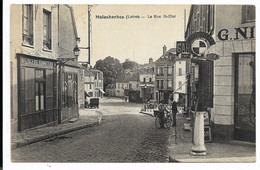 45-MALESHERBES- La Rue St-Eloi... Animé  Bonneterie...L. ROCHE, Garage... - Malesherbes