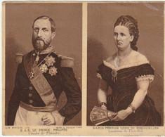 Famille Royale Belge- L.A.R Le Prince Philippe  Et  La Princesse Louise De Hohenzollern Les Comtes De Flandre - Royal Families