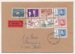GROENLAND - 6 Enveloppes Affranchissements Composés Divers, Toutes En Exprès - 1984 à 1987 - Briefe U. Dokumente