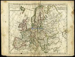 Generalkarte, L`Europe, Grenzkolorierter Kupferstich Aus Delamarché Petit Atlas Um 1785 - Zonder Classificatie