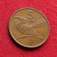 Botswana 5 Thebe 1976 KM# 4 Bird Botsuana - Botswana