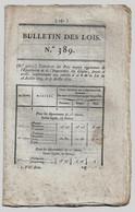 Bulletin Des Lois N°389 1820 Pensions Veuves Militaires (Carpentier Bastia-Léonard Jouhaud Présumé Mort... Bérézina) - Decreti & Leggi