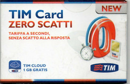 ITALY - GSM CARD - TIM - TIM CARD ZERO SCATTI - MINT IN BLISTER (COMPLETE KIT) - Unclassified