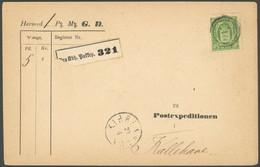 DIENSTMARKEN D 7 BRIEF, 18779, 32 Ø Grün Auf Paketbegleitkarte, Feinst - Dienstzegels