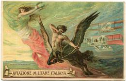 "ITALIE CARTE POSTALE CENSUREE "" AVIAZIONE MILITARE ITALIANA "" AVEC AU DOS CACHET 11a SQUADRIGLIA AEROPLANI - Altri"