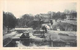 Dole Karrer Verte 60 écluse Canal Thème Péniches Péniche - Dole