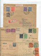 8376) 10 Belege Gesamtdeutschland - Machine Stamps (ATM)