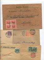 6204) 10 Belege Gesamtdeutschland - Machine Stamps (ATM)