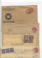 10.080) 10 Belege Gesamtdeutschland - Machine Stamps (ATM)