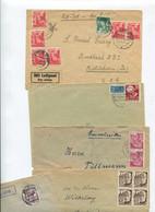 7483) 10 Belege Gesamtdeutschland - Machine Stamps (ATM)