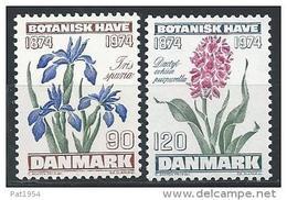 Danemark 1974 Série Neuve**  N° 584/585 Fleurs - Nuovi