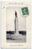 CPA 1913 En Cuvette Embossée * ILE DE RÉ Sainte Marie De Ré Vierge De La Marande - Ile De Ré