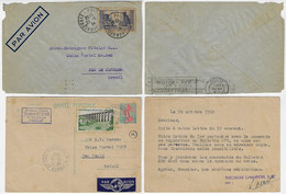 France 1934 Cover From Roubaix To Rio De Janeiro Brazil + 1960 Postal Stationery Card From Paris To São Paulo Label - Covers & Documents