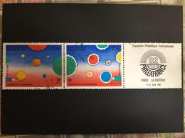 Timbres 2219 Et 2200, La Bande P2200A, Philexfrance '82, Oblitéré, Cote 2,50€ - Usados
