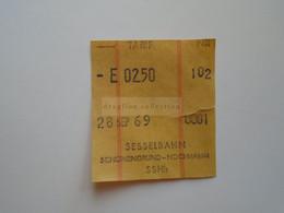 DT004   Schweiz Suisse   SESSELBAHN   Schönengrund / App  - Hochhamm     1969 - Toegangskaarten