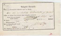 Österreich - Waidhofen A.d.I. Oval-Stpl. Aufgabs-Recepisse 1851 - Lettres & Documents