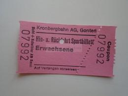 DT004   Schweiz Suisse       Kronbergbahn  AG, Gonten   Ca 1970's - Toegangskaarten