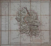 18è Siècle (1790) - Carte DÉPARTEMENT LOZÈRE : Marvejols Mende Nasbinals Meyrueis Langogne Florac - (BEL ÉTAT) - TOILÉE - Unclassified