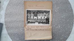 CARTE PHOTO ENCASTRE SUPPORT PAPIER - ARMEE FRANCAISE FRANCE BELGIQUE - EQUIPE FOOT - FOOTBALL - NOMS JOUEURS - Soccer