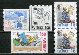 Schweden Sweden Sverige Mi# 1124-7A/C/D Postfrisch/MNH - Cartoons - Nuovi