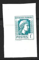 France Marianne D'Alger 1 Franc Essai De Couleur Non Dentelé Neuf **. TB. A Saisir! - Prove