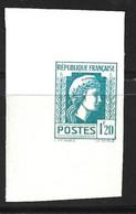 France Marianne D'Alger 1,20 F. Essai De Couleur Non Dentelé Neuf **. TB. A Saisir! - Proofs
