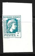 France Marianne D'Alger 2 F. Essai De Couleur Non Dentelé Neuf **. TB. A Saisir! - Proofs