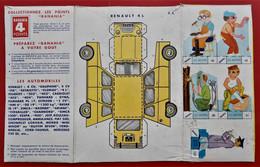 BANANIA BOITE Carton A Decouper  LES AUTOMOBILES   RENAULT 4 L - Publicidad