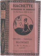 Dépt 77 - LAGNY-SUR-MARNE - Protège Livre Publicitaire Librairie-Papeterie BLONDET, 21 Rue Des Marchés - Lagny Sur Marne