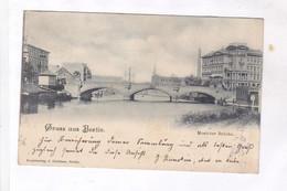 CPA  BERLIN  MOABITER BRUCKE  En 1899! (voir Timbres) - Autres