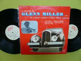 Glenn Miller - X2  LP 33t Vinyles - A Memorial For Glenn Miller - EX/EX - Jazz