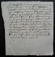 1681 Reçu De Claude Vial Pour Des Travaux, Signé Latour Chastel, Cachet Au Revers - Manuscripts
