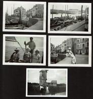 5 Photos Originales - 9 X 6 Cm - C1930 - Le Croisic - Voir Scan - Lieux