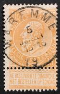 Leopold II Fijne Baard OBP 65 - 1fr Gestempeld  EC WAREMME - 1893-1900 Thin Beard