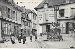 19 - CORREZE - MEYMAC - PLACE DE LA CROIX - GROSSE  ANIMATION - LIBRAIRIE - SOCIETE GENERALE - EDITION JANICOT - Autres Communes
