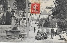 19 - CORREZE - MEYMAC - Place Delmas Et Rue De La Poste Belle Animation Tres Ancien Tacot CPA 1909 - Autres Communes
